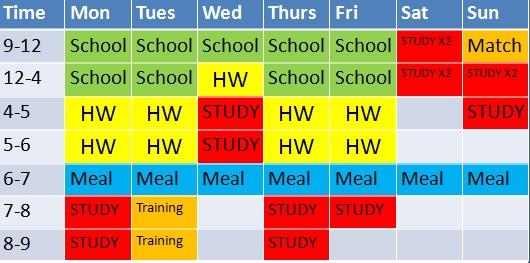 Study Timetable step 3