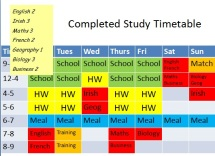 Study Timetable step 4